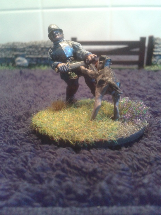 BR27 Dog Attacking Border Reiver