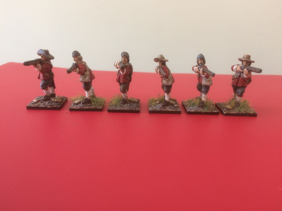 English Civil War Musketeers Standing