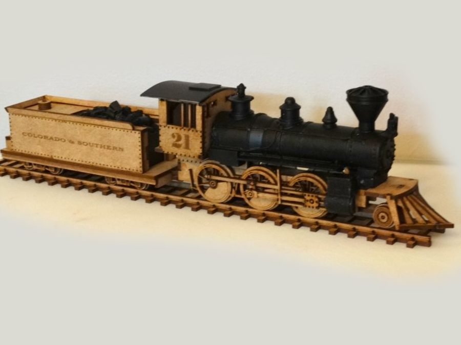 28 mm Locomotive and tender