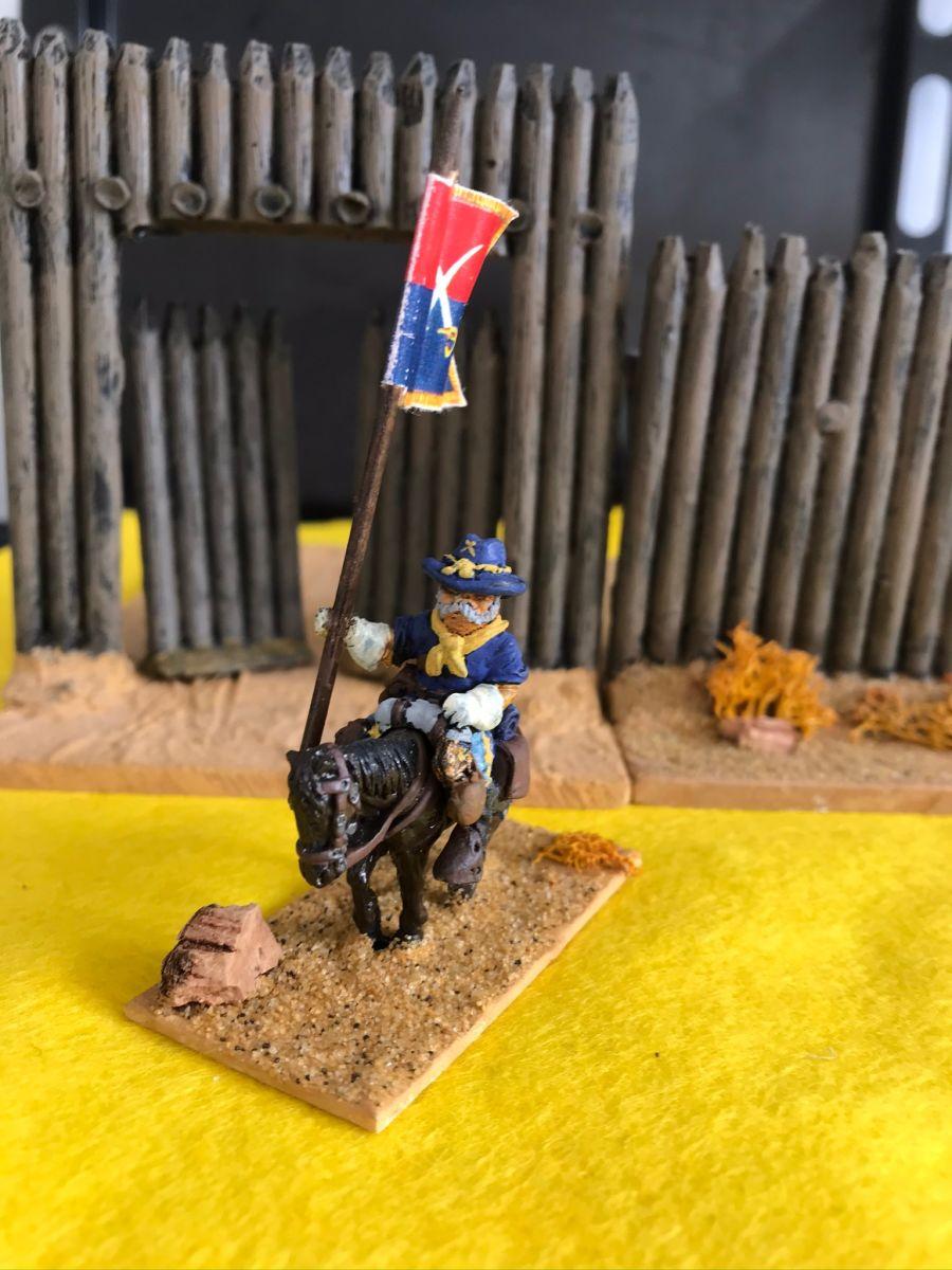 US04 Regt Standard Bearer  Mounted pose