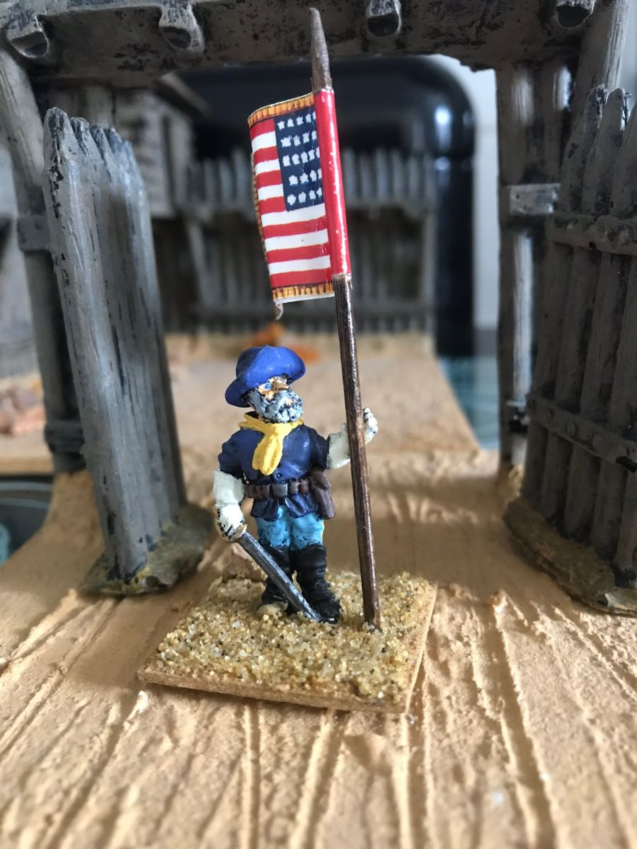 US14  Regimental standard Bearer on foot