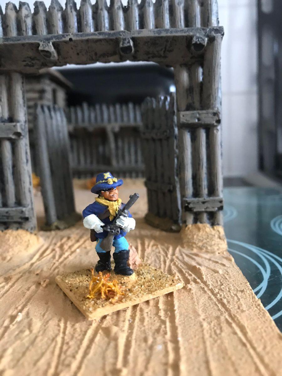 US17  Trooper standing loading carbine