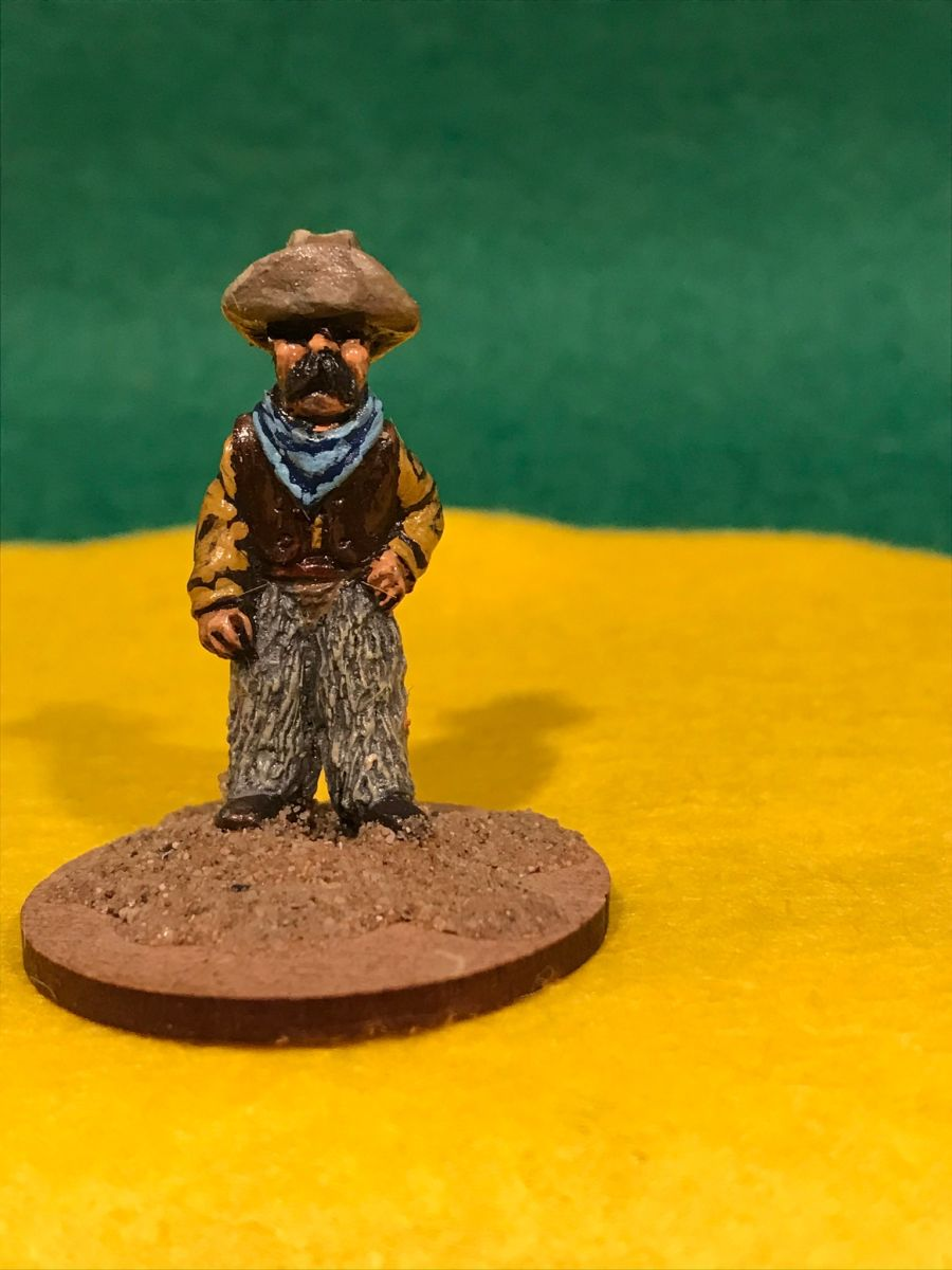 AW04 Cowboy in woolly chaps