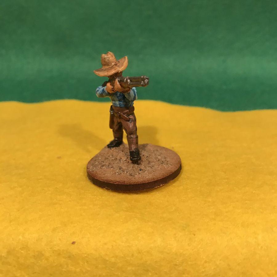 AW20 Cowboy firing Winchester