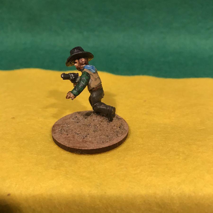 AW21 Cowboy running firing pistol