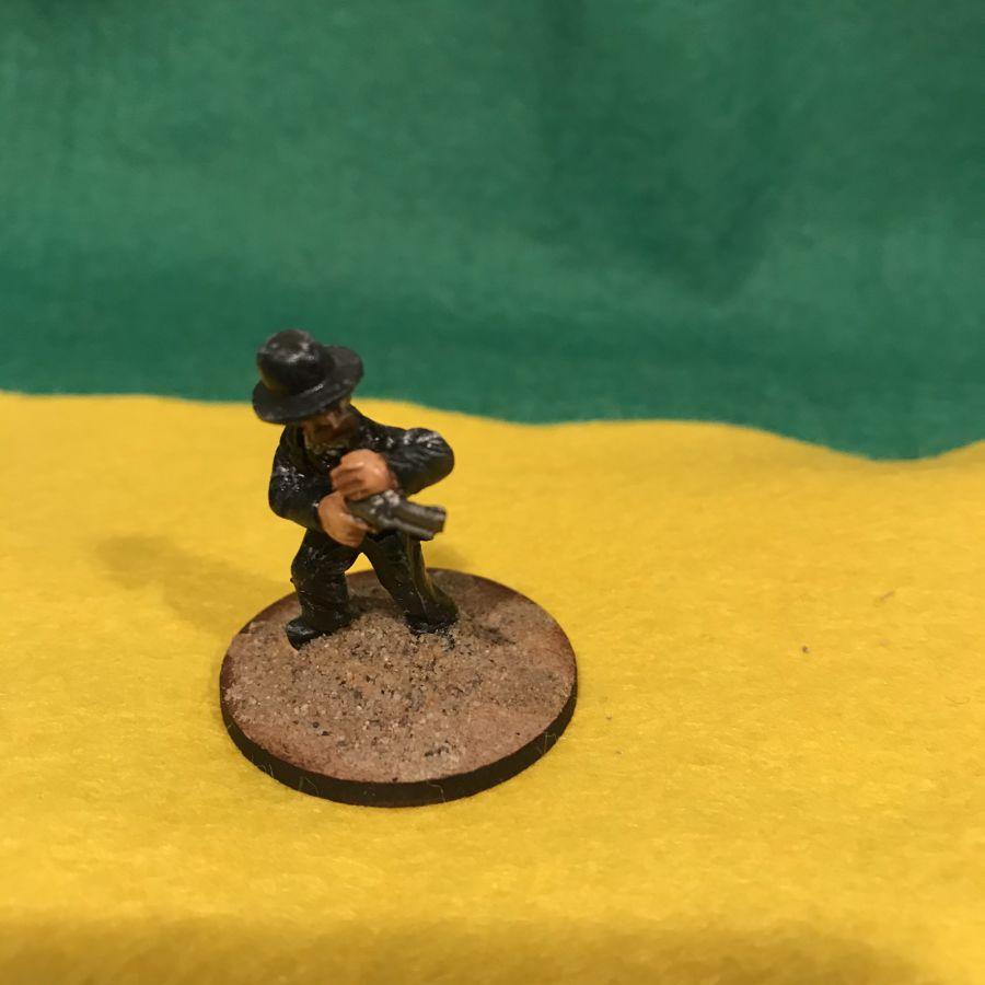 AW22 Gambler firing pistol