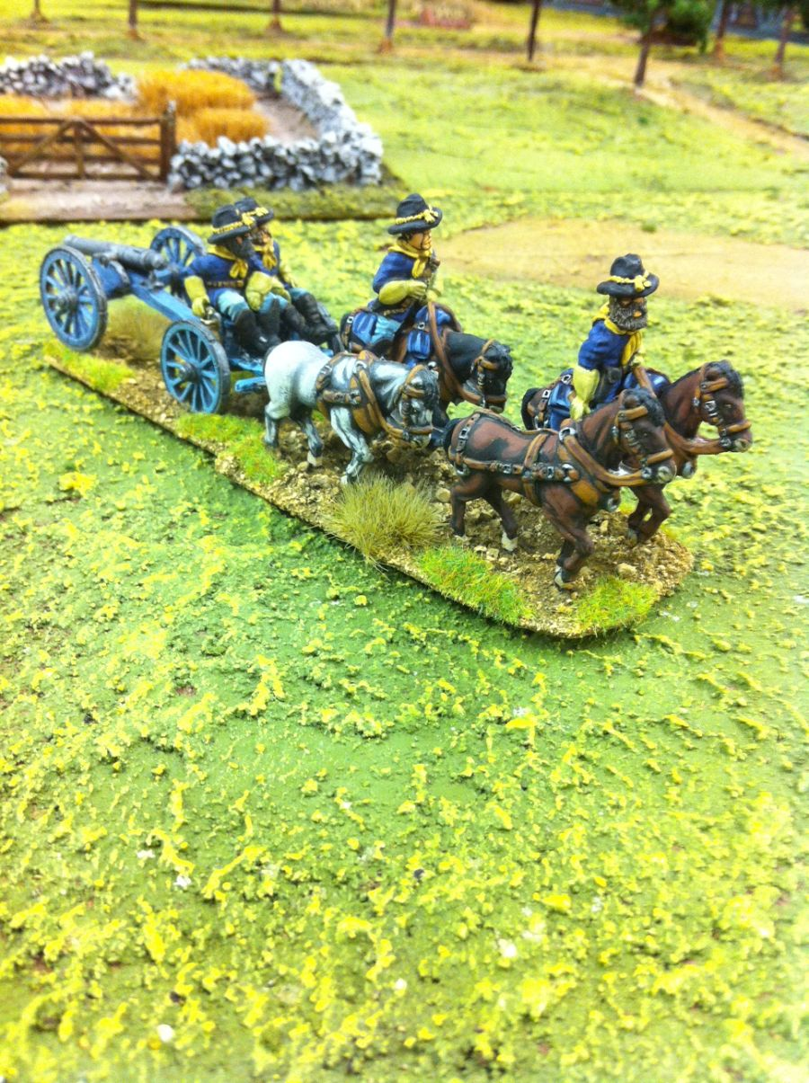US39 4 horse Artillery limber and riders