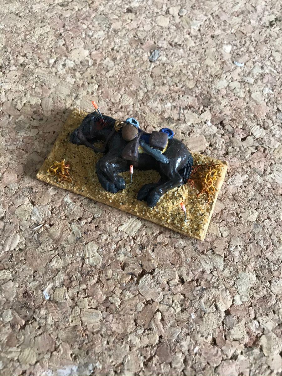 USH03 Dead horse wearing saddle