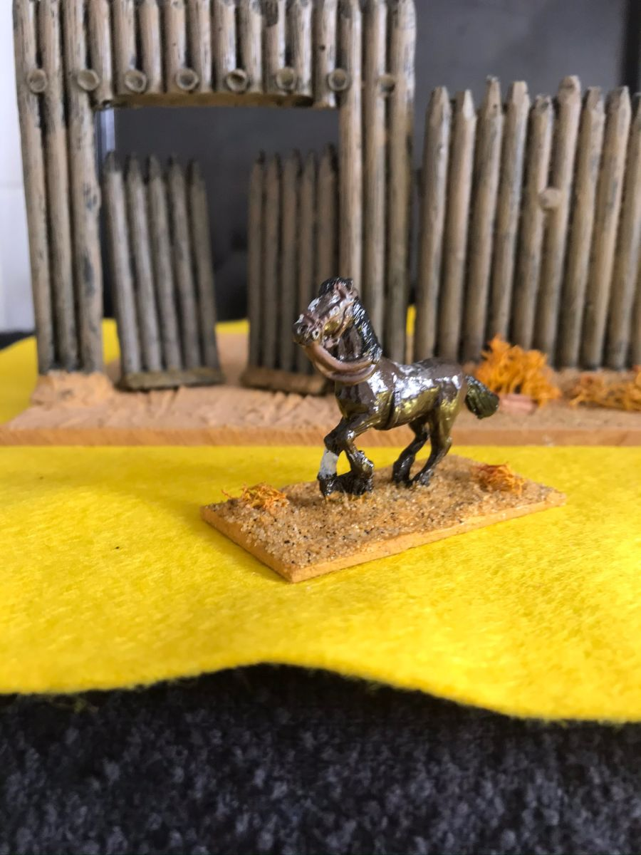 USH05 Cavalry horse galloping with head up