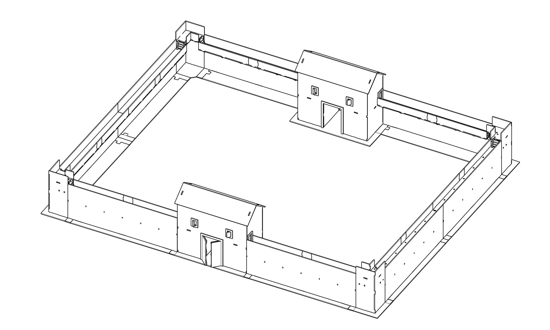 28mm Roman Fort