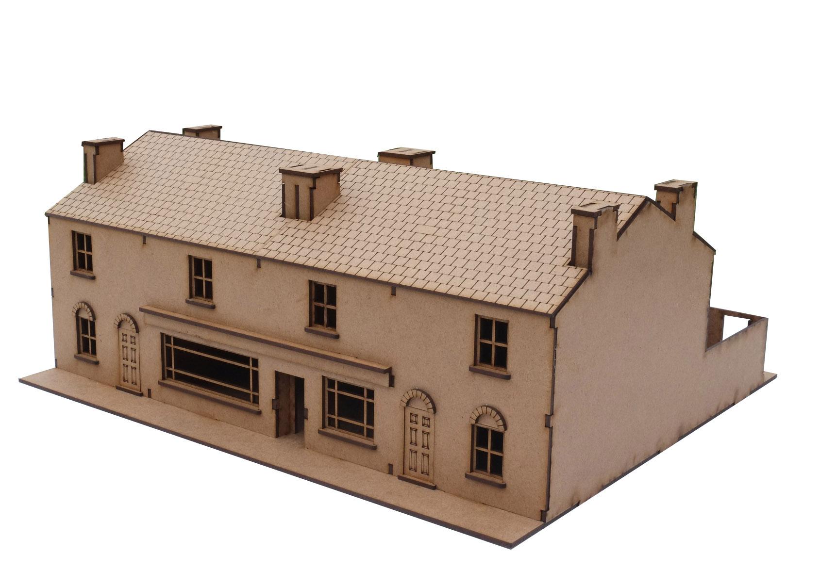 28mm Terrace Houses c/w Shop