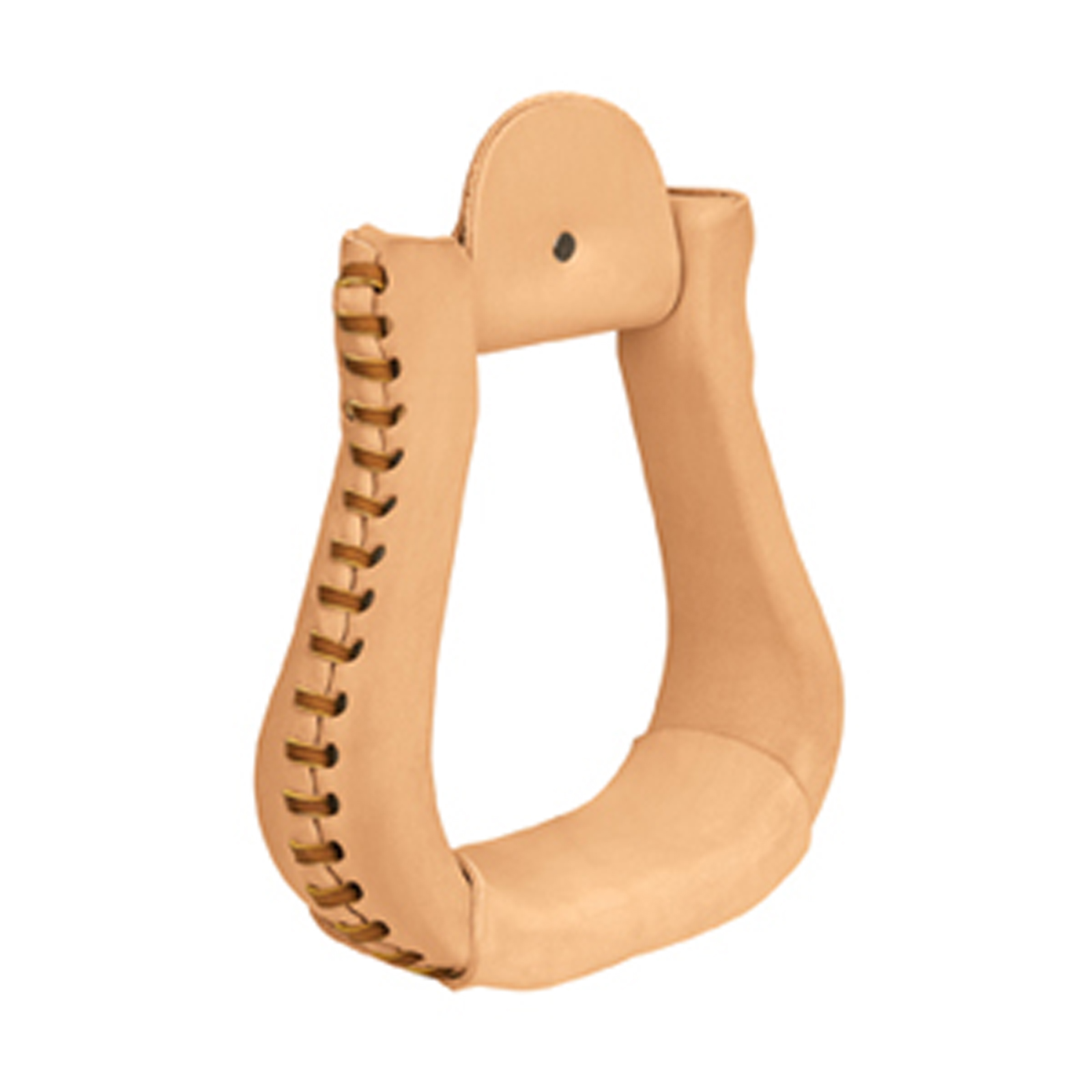 Weaver Natural Leather Covered Bell Stirrup