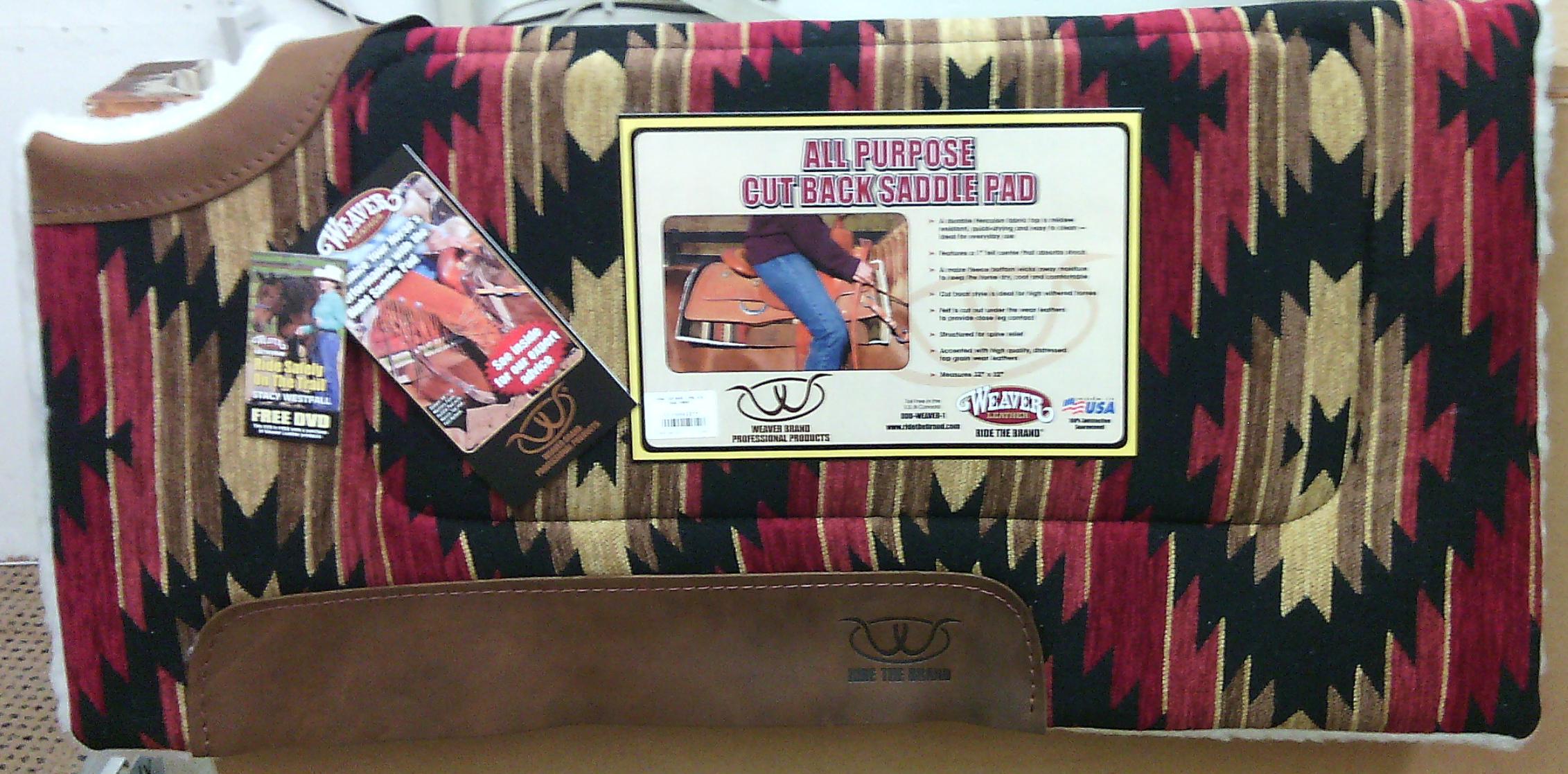 Weaver All Purpose Cut Back Saddle Pad
