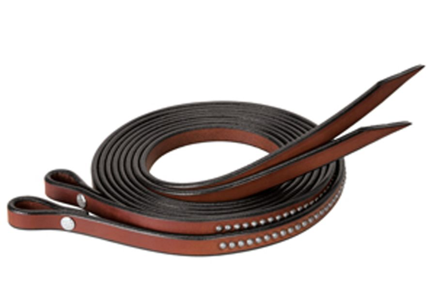 Weaver Leather Bridle Leather Split Reins with Etched Spots