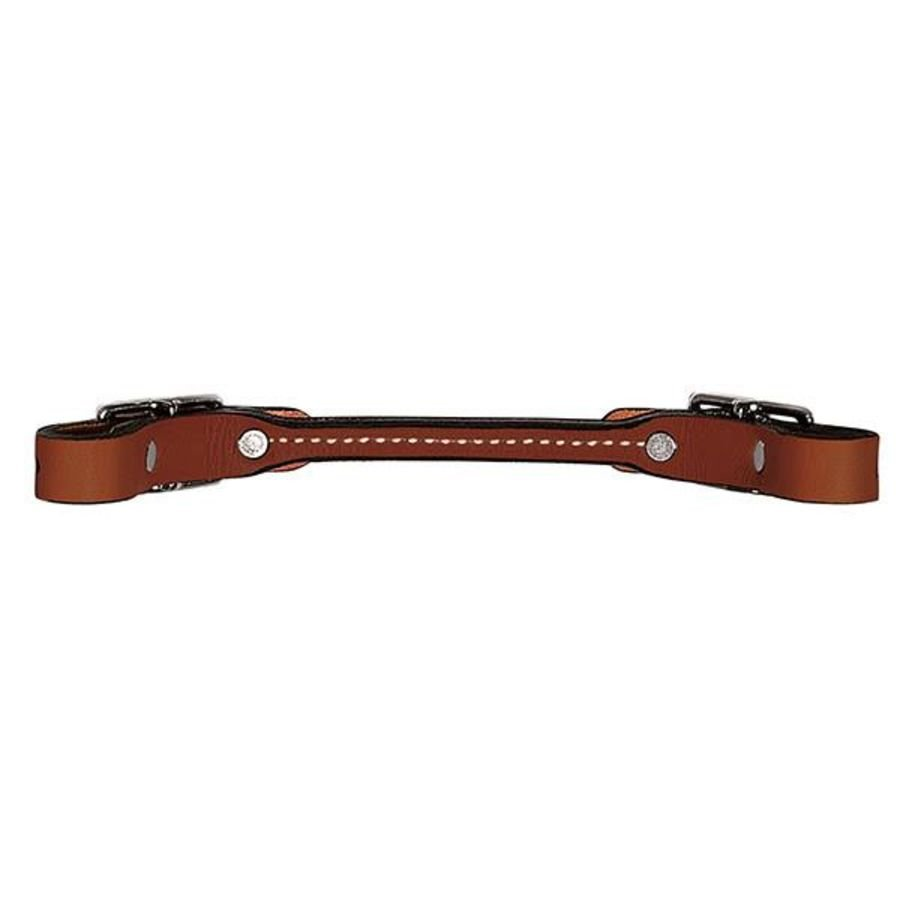 Curb Strap Weaver Bridle Leather Rounded