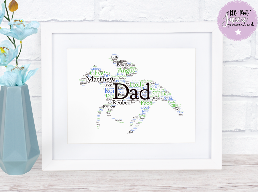 Personalised Horse Racing Word Art Print