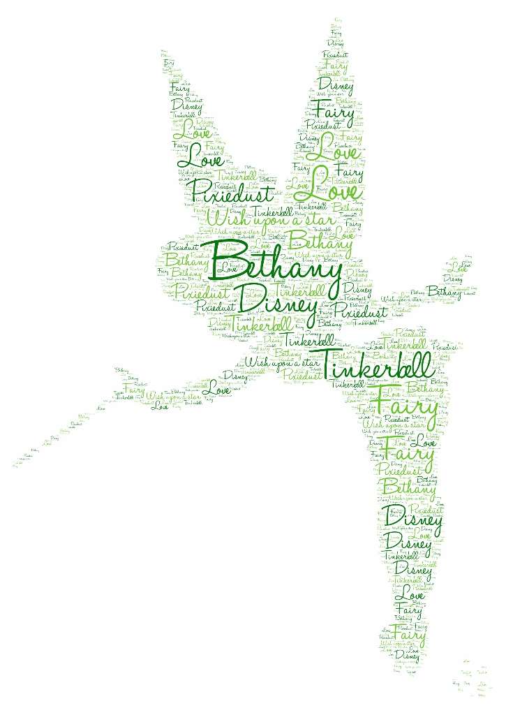 Tinkerbell peter pan gift word art typography personalised tinkerbellpeter pan word art print gumiabroncs Images