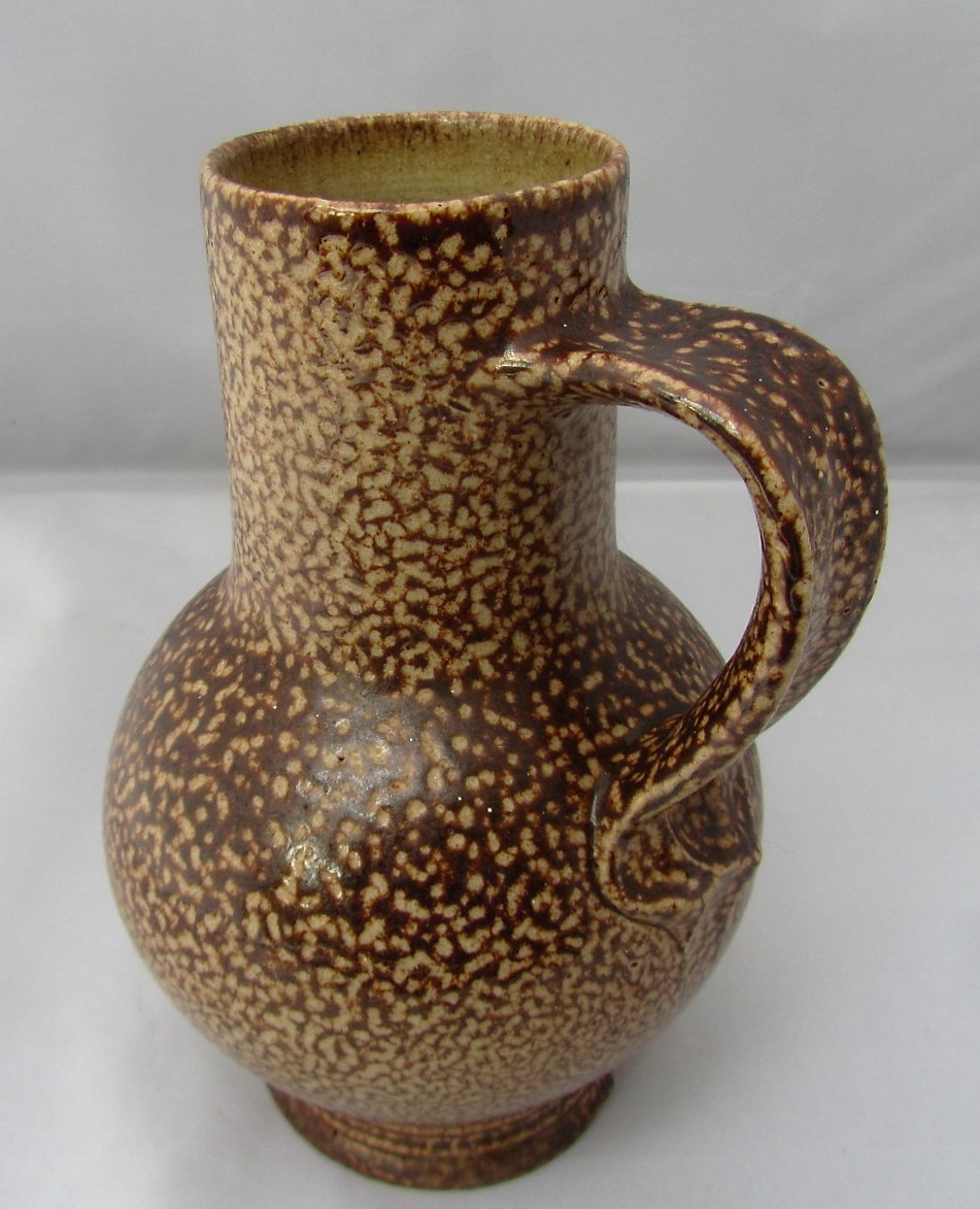 Doulton Lambeth German style salt glazed jug by Harry Simeon, c1910
