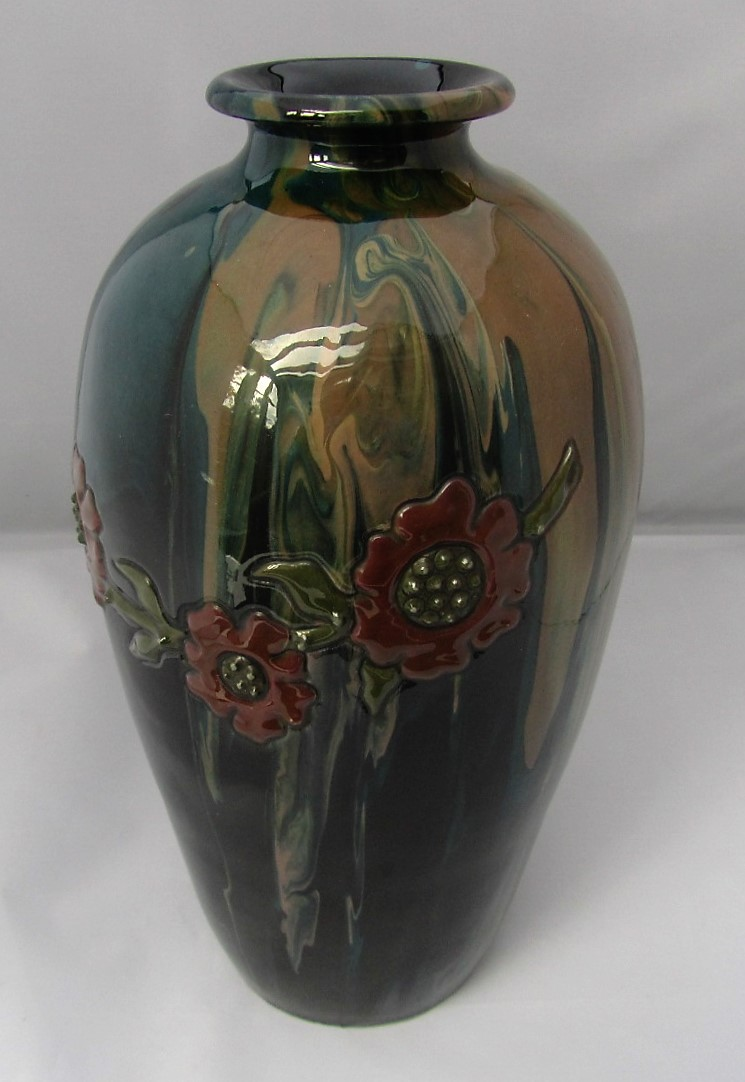 Elton Art Pottery vase made by William Fishley Holland, c1921