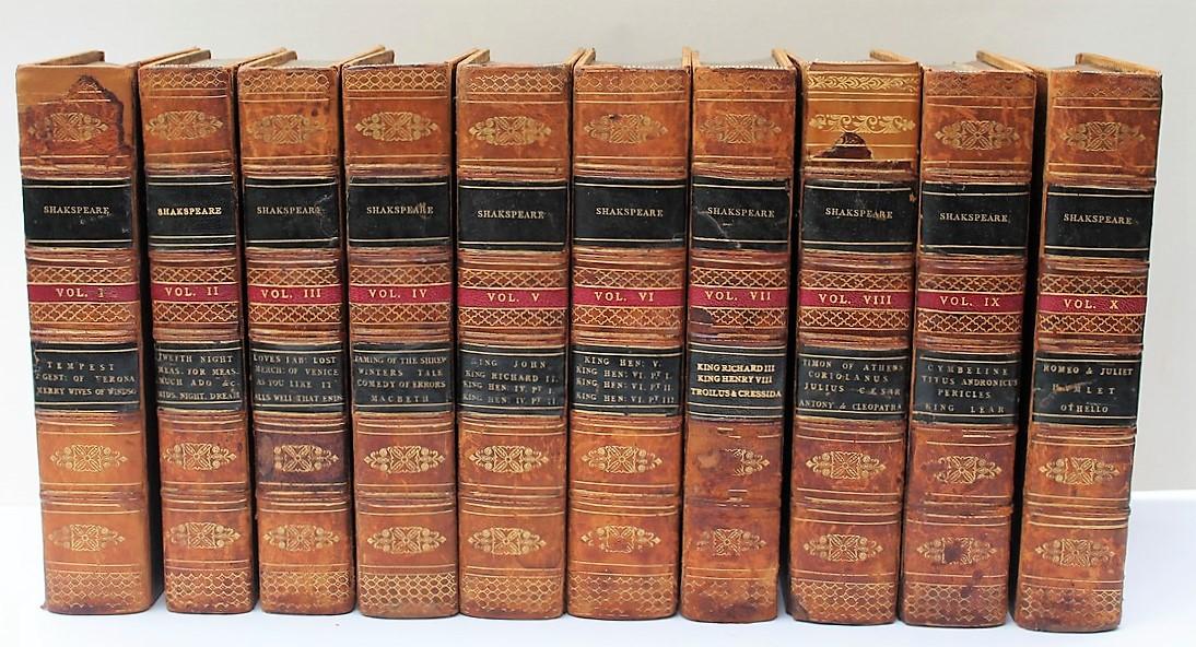 THE PLAYS OF WILLIAM SHAKESPEARE, 1805, illustrated Fuseli, 10 Volumes
