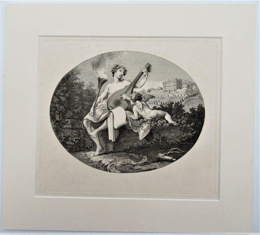 William Hogarth original print, Hymen and Cupid, 1740, unframed