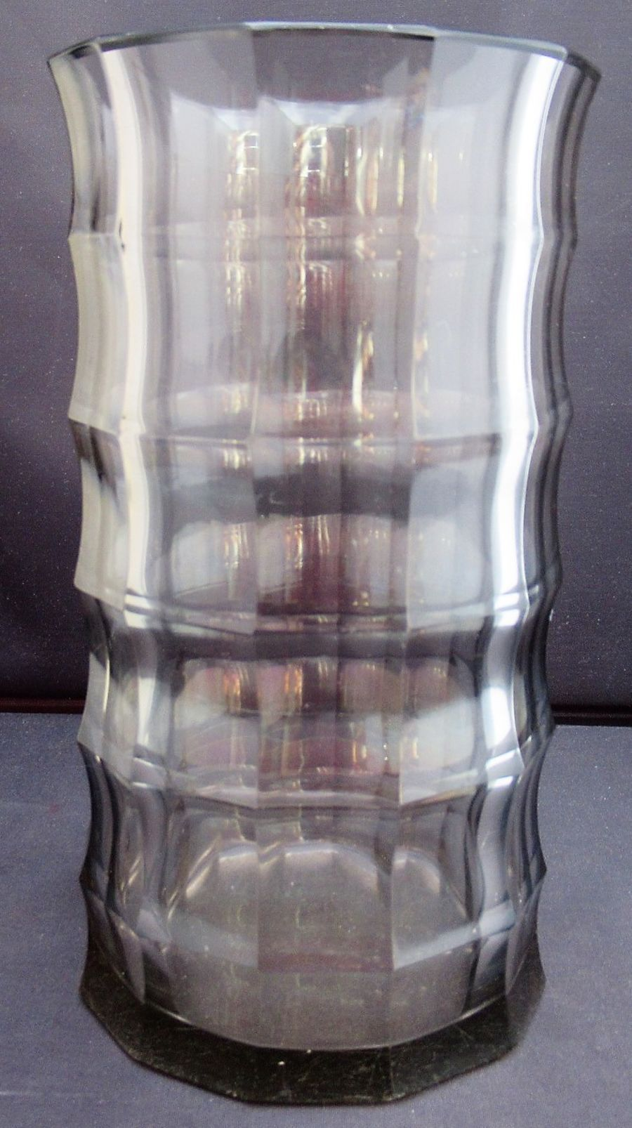 Faceted glass vase, c1920, manner of Josef Hoffmann and Wiener Werkstatte