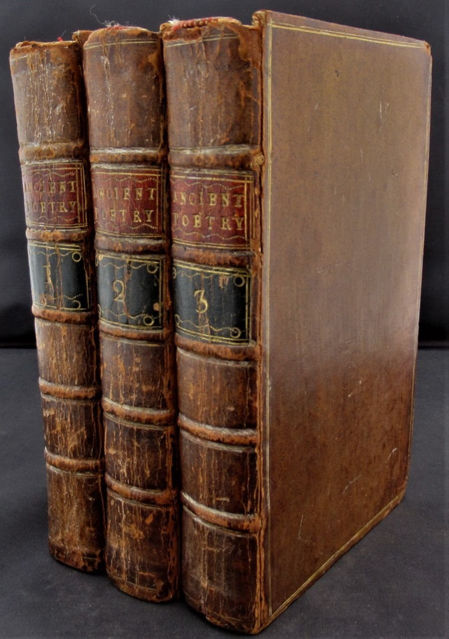 Reliques Of Ancient English Poetry, Thomas Percy, 1765 First Edition, 3 volumes