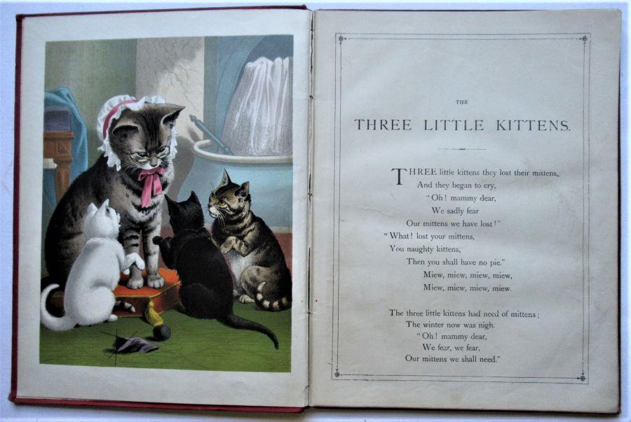 The Three Little Kittens etc., illustrated children's book, c1878, R M Ballantyne