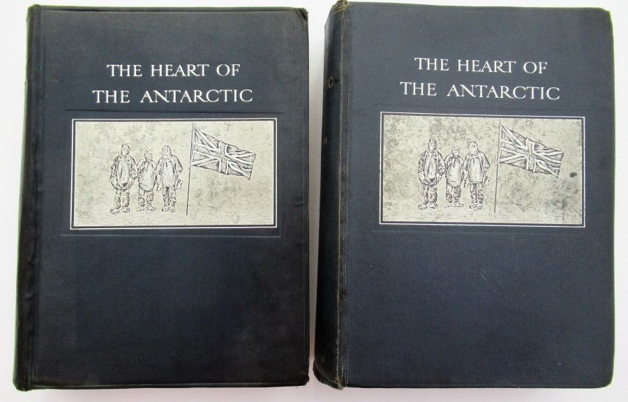 The Heart of the Antarctic, Ernest Shackleton 1909 first edition complete 2 vols