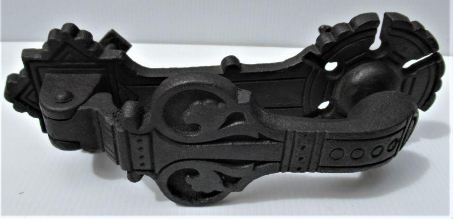 Christopher Dresser design Kenrick & Co number 405 cast iron door knocker, 1880