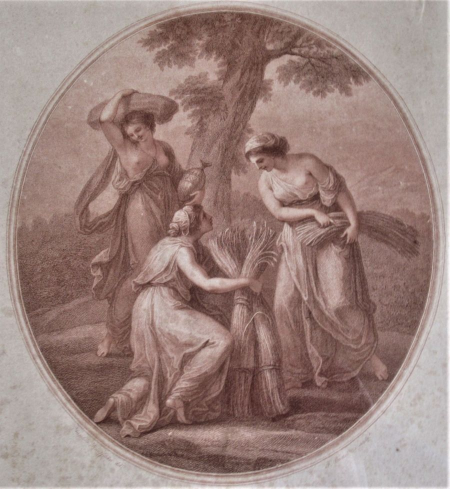 F Bartolozzi after A Kauffman, stipple engraving 1782, Ceres, early state print