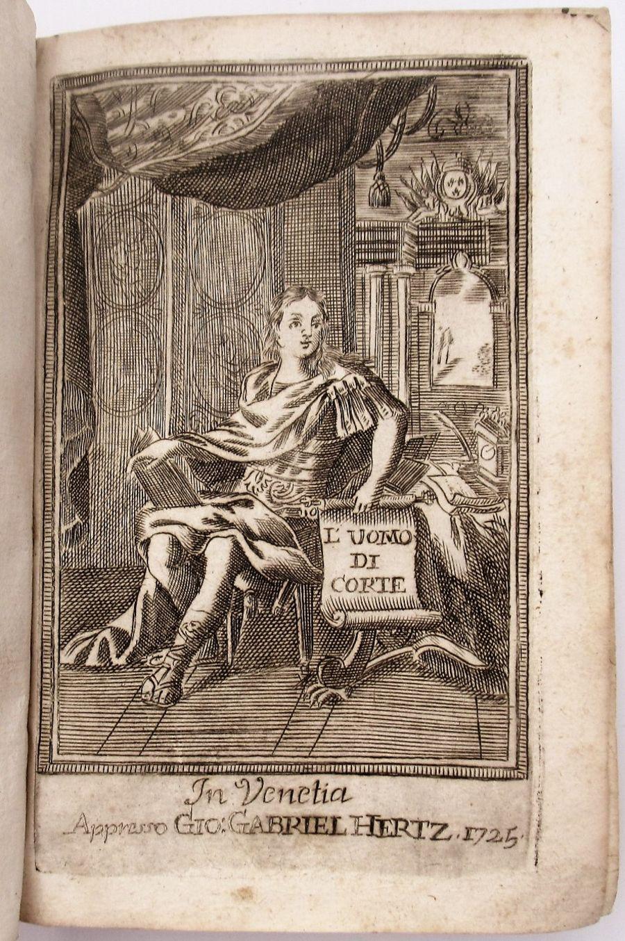 L'Uomo di Corte, Baldassar Graziano, Jesuit philosophical work publ Venice 1731