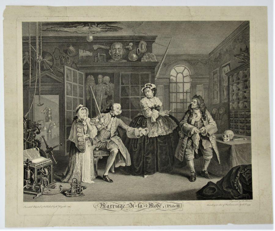 William Hogarth, Marriage-A-La-Mode Plate III, engraved 1745