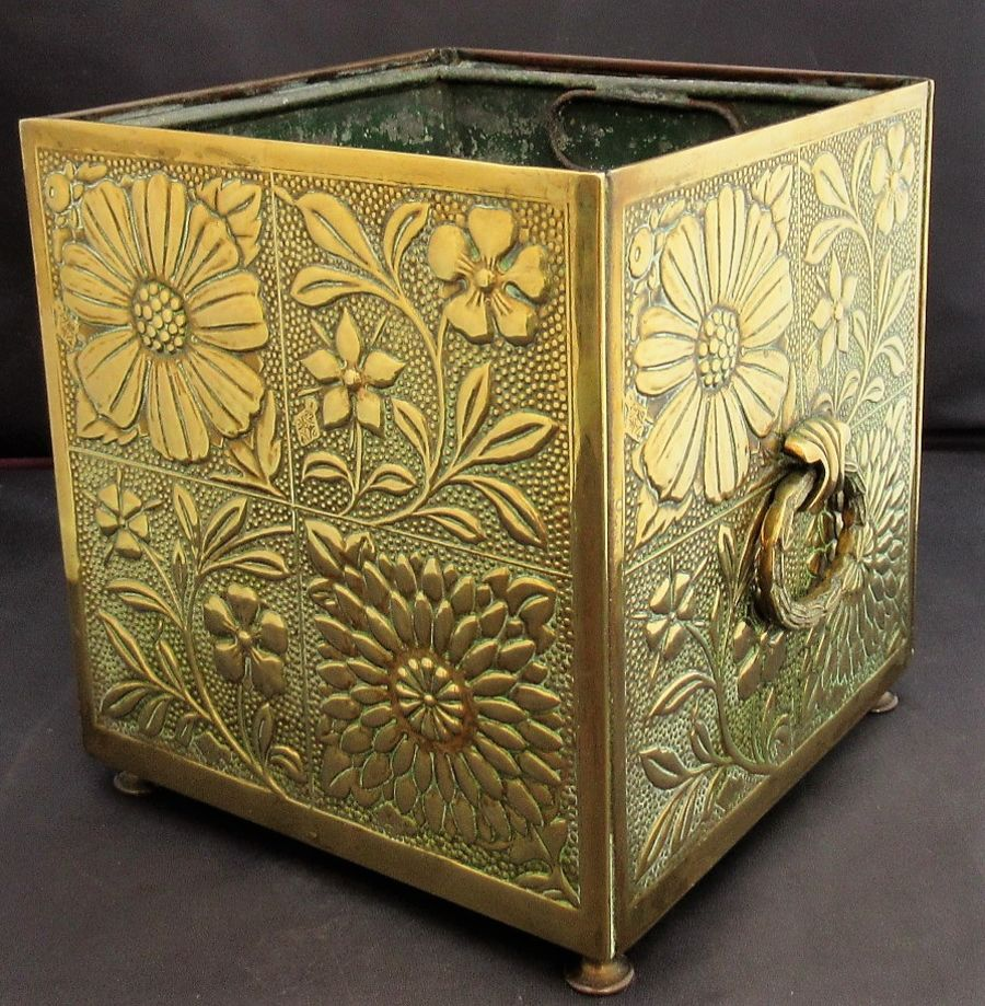 Brass Jardiniere 1878, after a design by William Morris