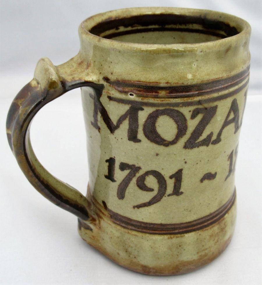 Seth Cardew Wenford Bridge studio pottery stoneware pint mug, Mozart,1991