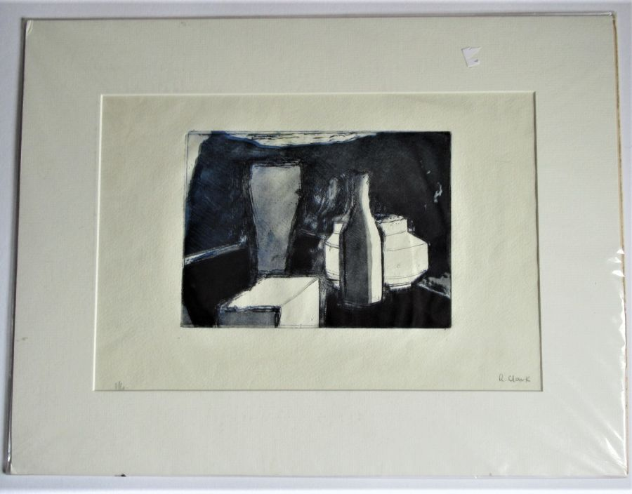 Original limited edition print, Richard Clark, still life, etching and aquatint