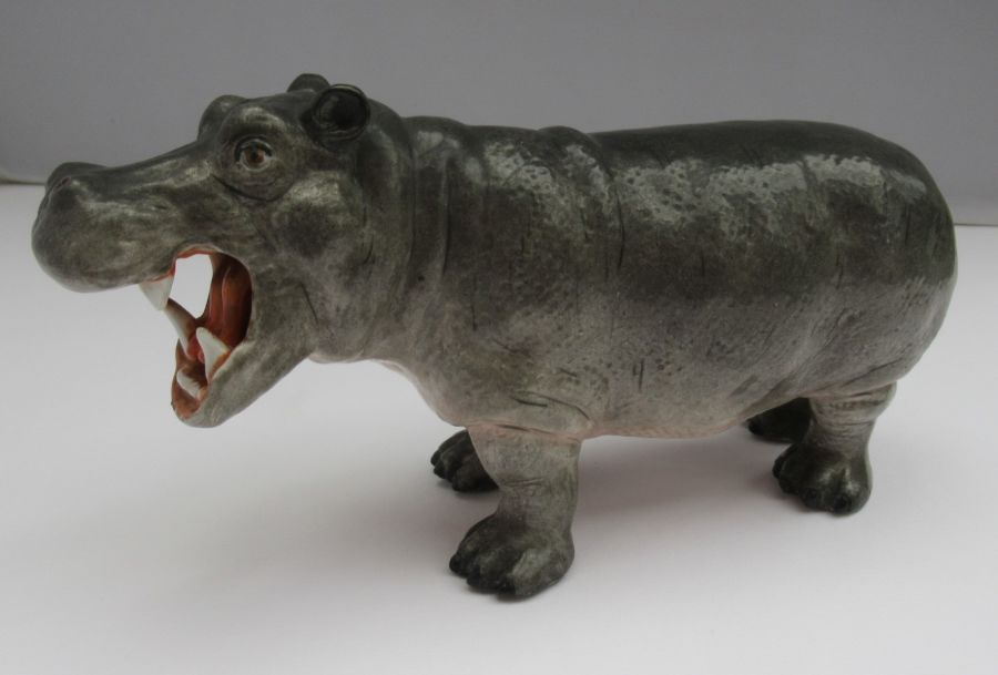 Hoechst Porcelain Hippopotamus, mid C20th