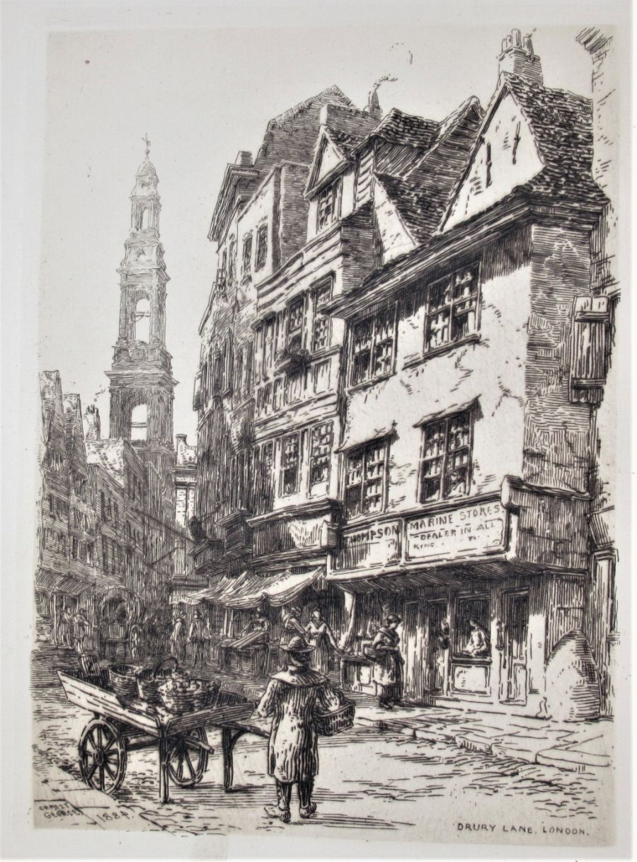 Ernest George RA, Etchings of Old London, original prints, published 1884