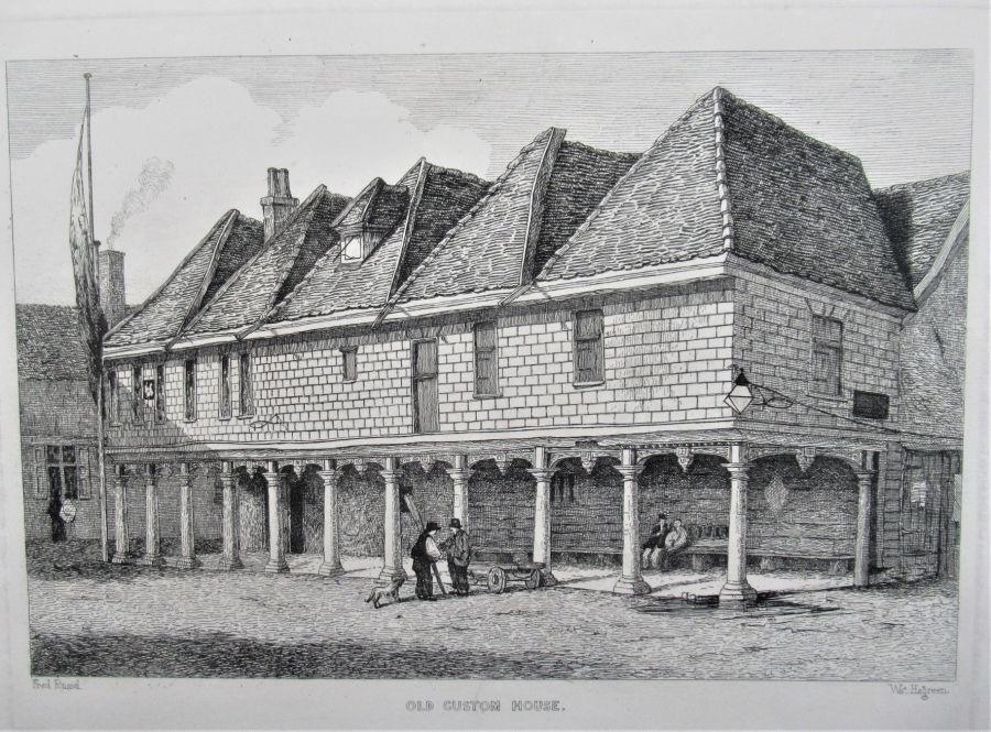 Original mounted antique prints, Antiquities of Ipswich, Suffolk, 1845