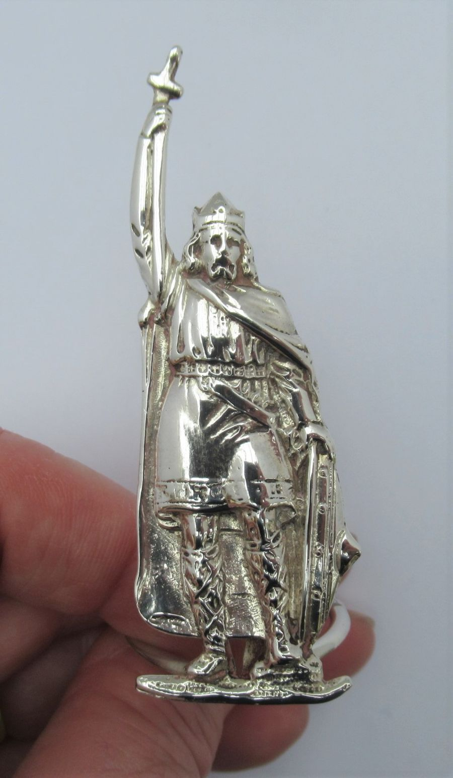 George V, Silver King Alfred Menu/Card Holder, London 1913