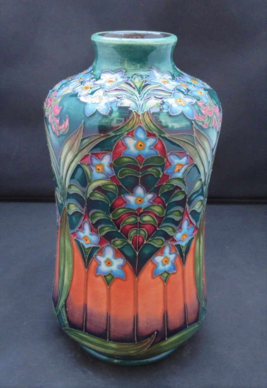 A Moorcroft Design Trial Vase by Philip Gibson, signed and dated, 2003