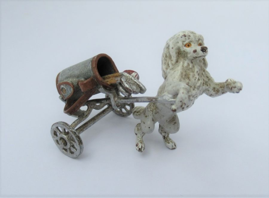 Vintage cold painted bronze Anthropomorphic  Poodle golf player, Early to Mid C20th