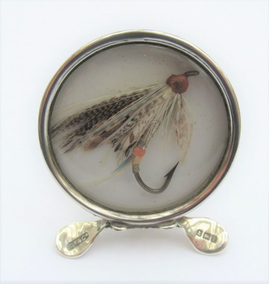 Edwardian, Sterling Silver Fishing Lure Menu/Card Holder, Grey & Co, Birmingham 1908