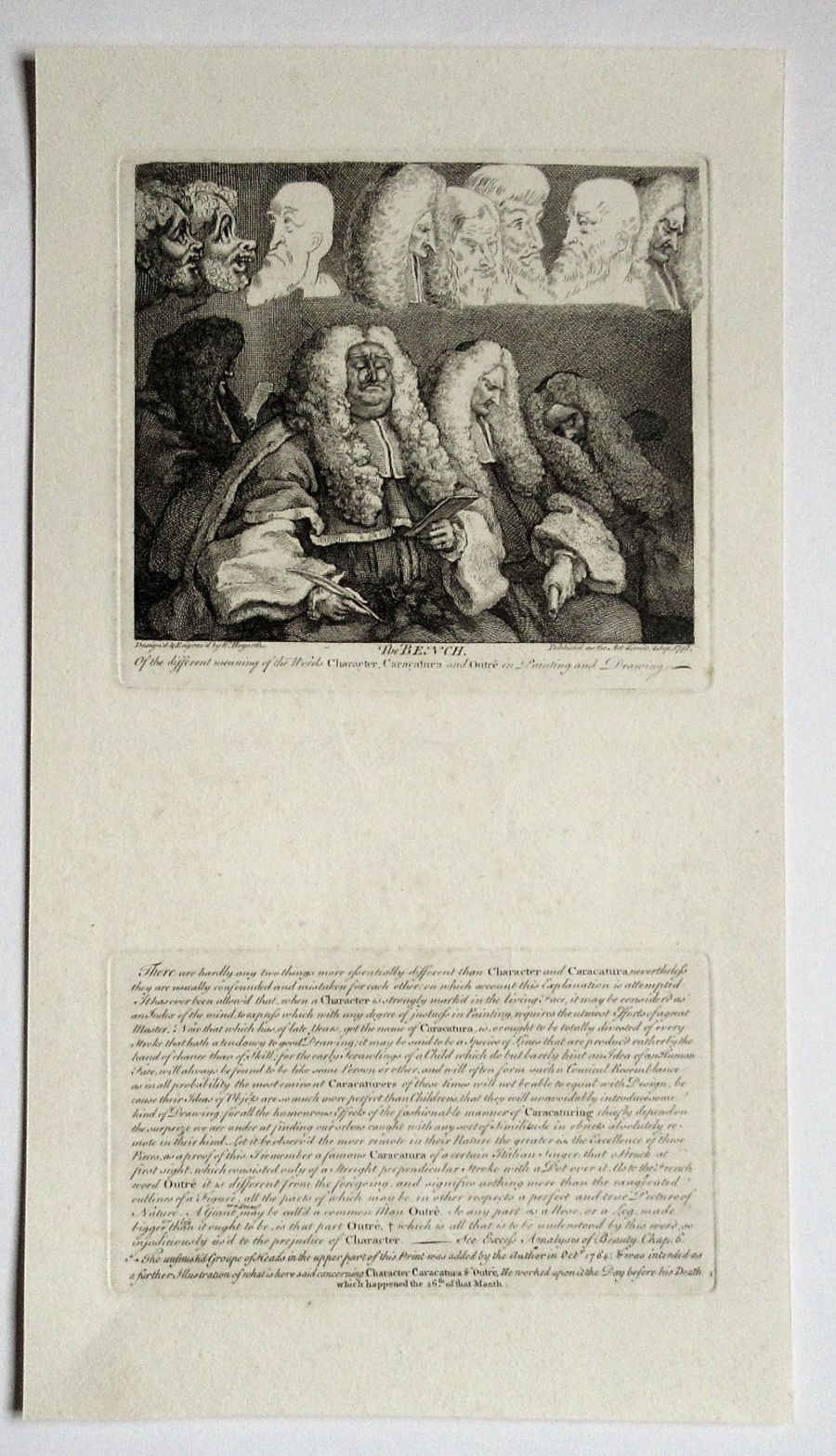 William Hogarth, The Bench, print with letterpress, engraved 1758