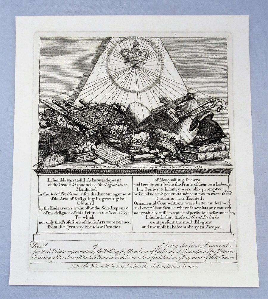 William Hogarth, Crowns, Mitres and Maces etc., engraved 1754