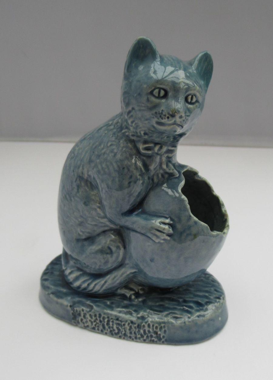 C.H. Brannam, Barum Ware Novelty Cat Match Striker, 1885