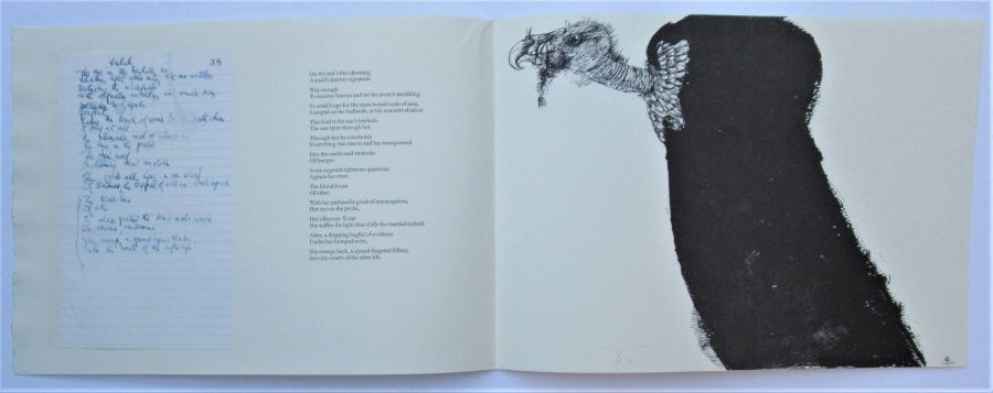 The Interrogator, A Titled Vulturess, poem by Ted Hughes, illustrated by Leonard Bskin