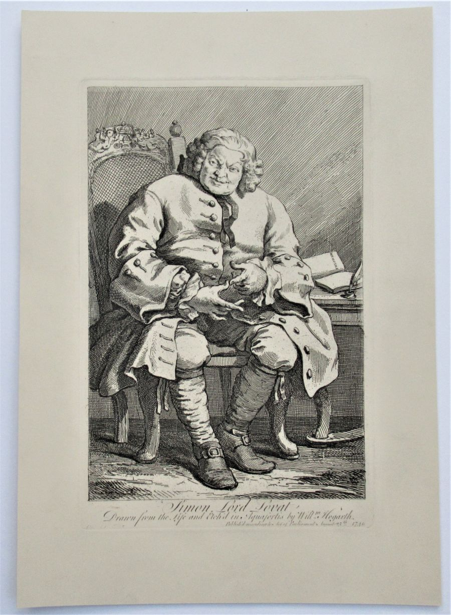 William Hogarth, Simon Lord Lovat, print engraved 1746, early 19th century impression