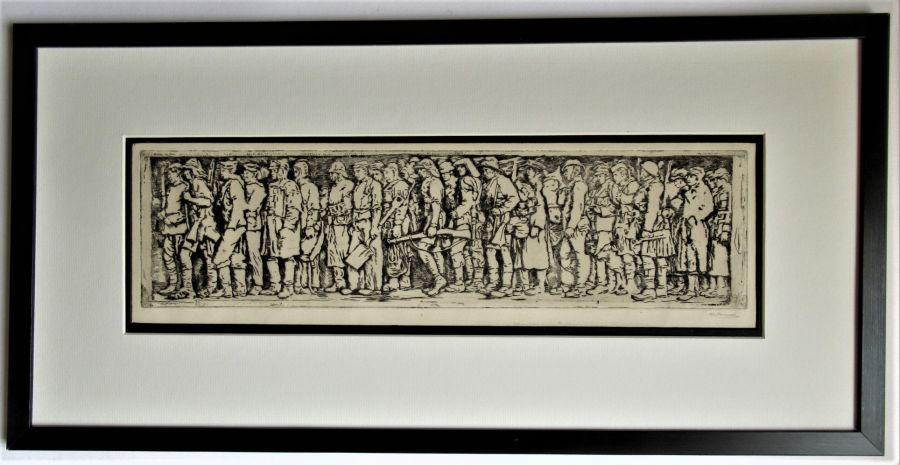 R S Forrest original print, Scottish National War Memorial, after Meredith Williams c1927
