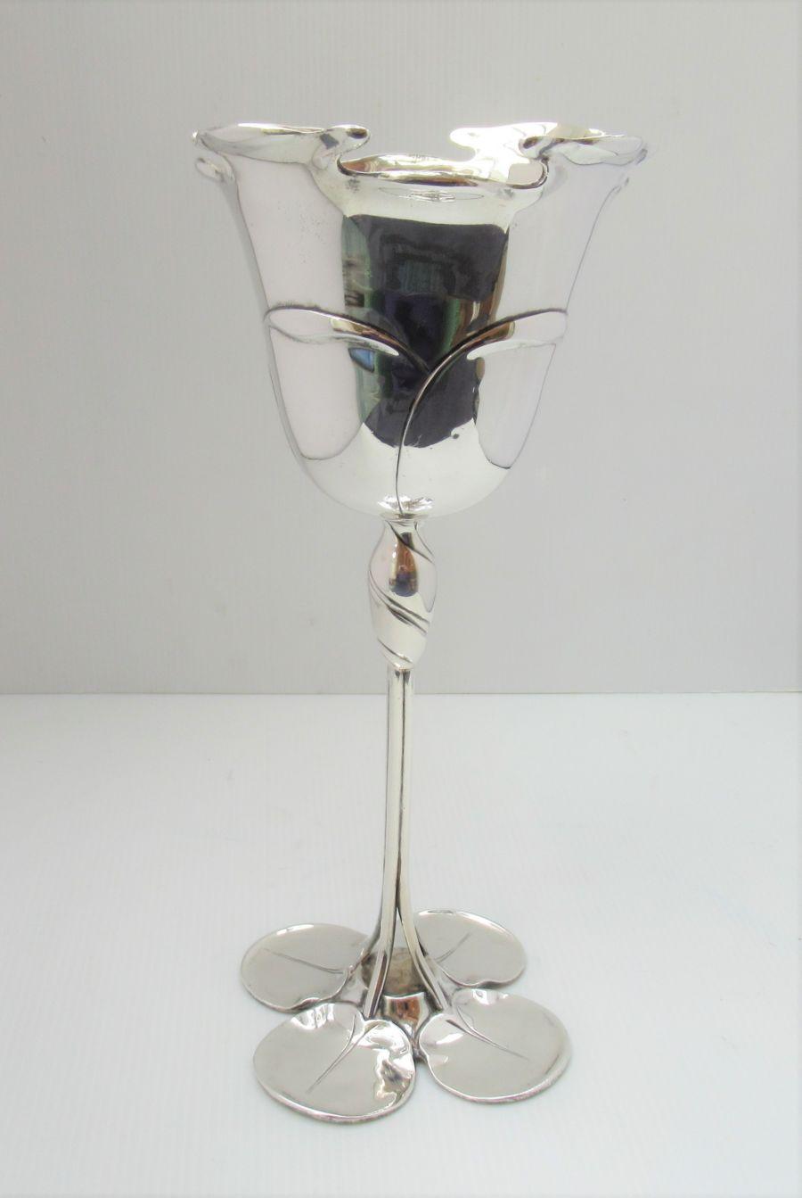 Art Nouveau, Silver Waterlily Chalice/Goblet, Mappin & Webb, Sheffield 1912